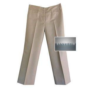Ann Taylor tan crop pants